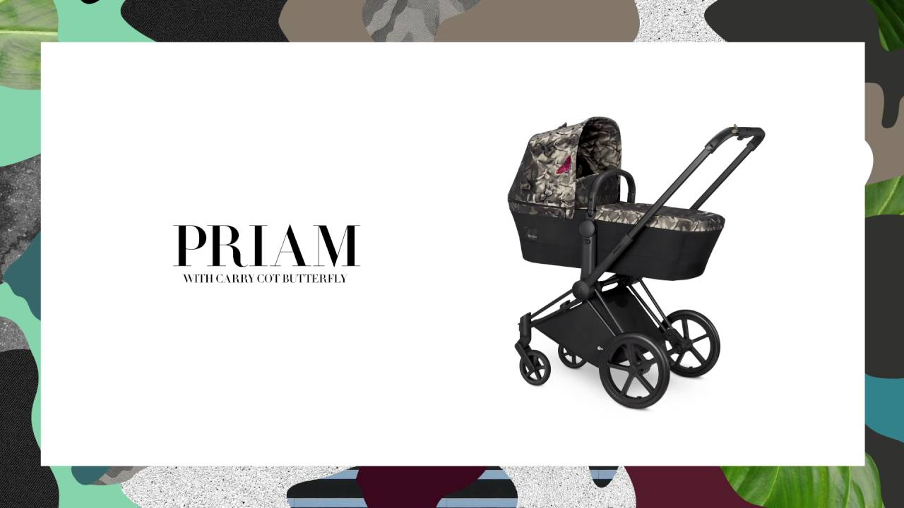 Cybex Travel System Butterfly Priam With Carry Cot