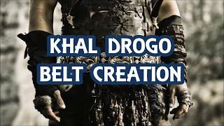 KHAL DROGO COSPLAY: HOW TO MAKE A KHAL DROGO BELT (HOW TO RESIN CAST/ SILICONE MOLD/MONSTER CLAY)