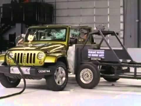 2009 2010 Jeep Wrangler 4 Door Iihs Side Impact Youtube