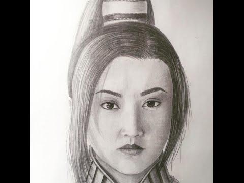 Великая стена, Цзинь Тянь, рисунок карандашом