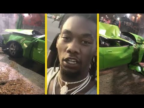 Offset Migos Brings His Crashed Hellcat To Album Release Party!