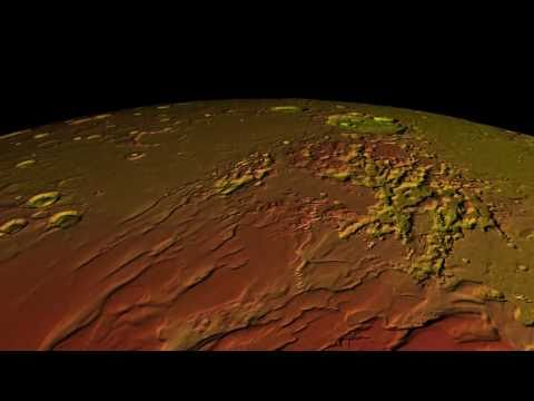 Topographic Mars Globe 720p