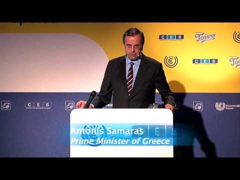 Greek PM, Antonis Samaras, addresses EIF 2013
