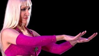 Belly Dance How to: Hand Undulation / Wave / Ripple Move - Belly Dancing - with Neon