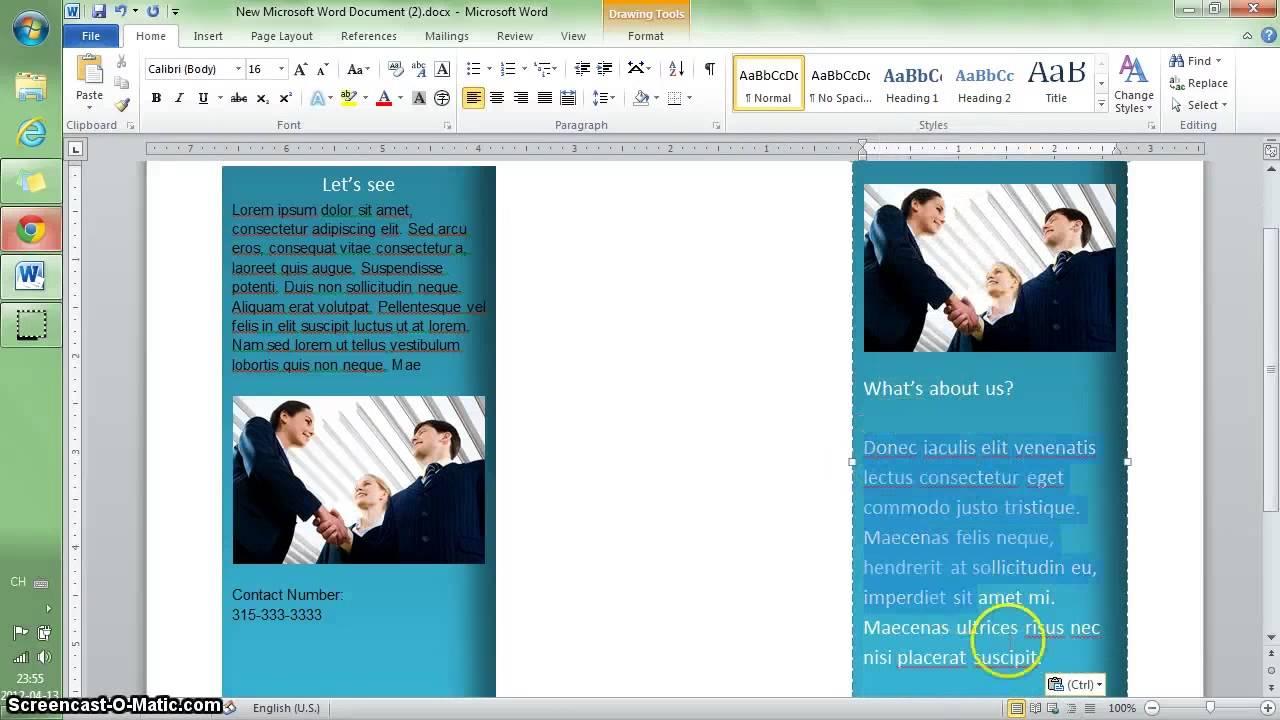 word 2010 tutoriel  faire une brochure en 10 min