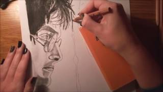 Drawing of Harry Potter and Lord Voldemort