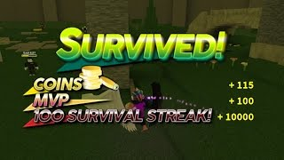 ROBLOX Survive The Disasters 2 - 100 Survival Streak!