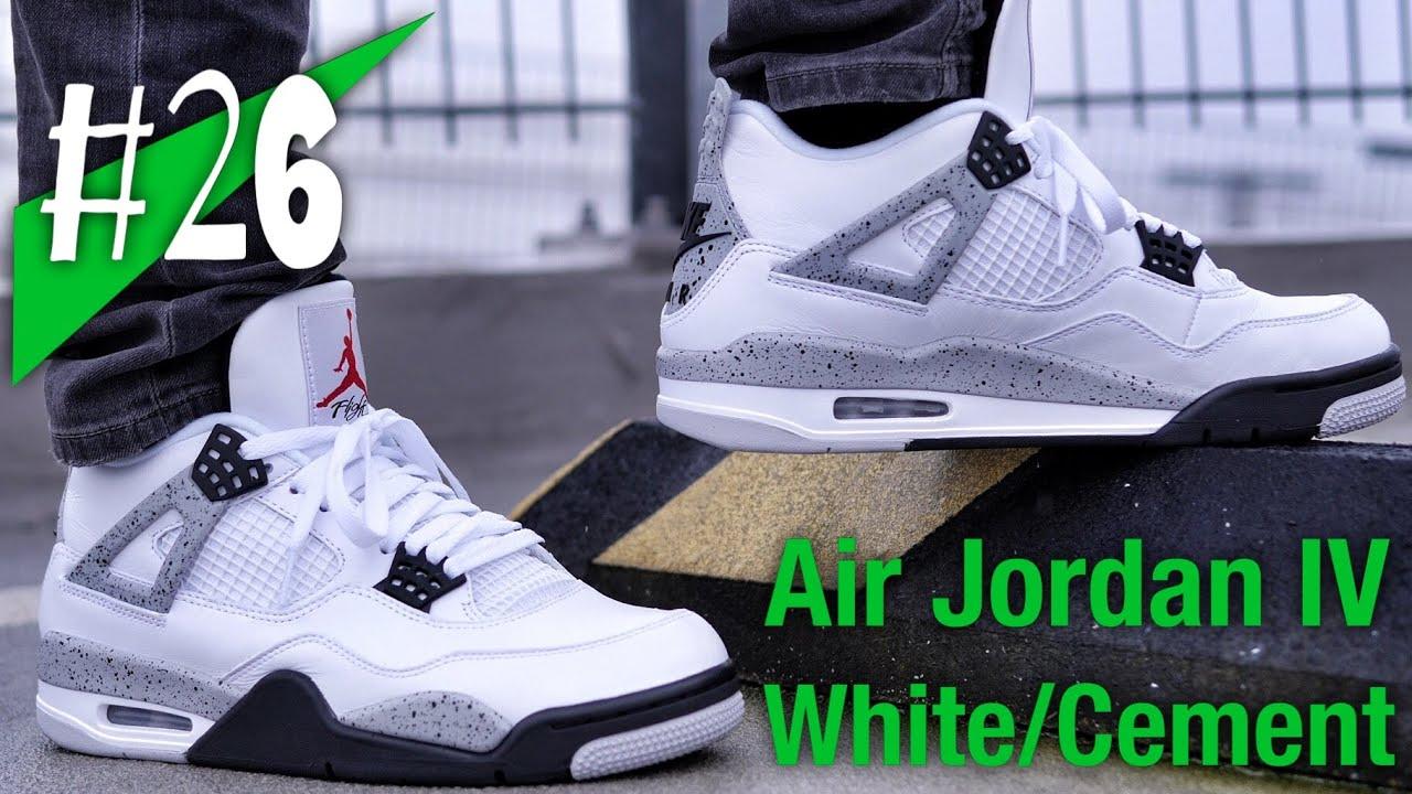 c8797aea4f620 #26 - 2016 Nike Air Jordan IV 4 `89 White/Cement - on feet - sneakerkult