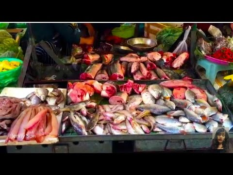 Asian Street Food, Country Foods Selling In My Village, Walk Around Market Food In Cambodia