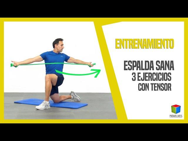 ESPALDA SANA con 3 ejercicios con tensor