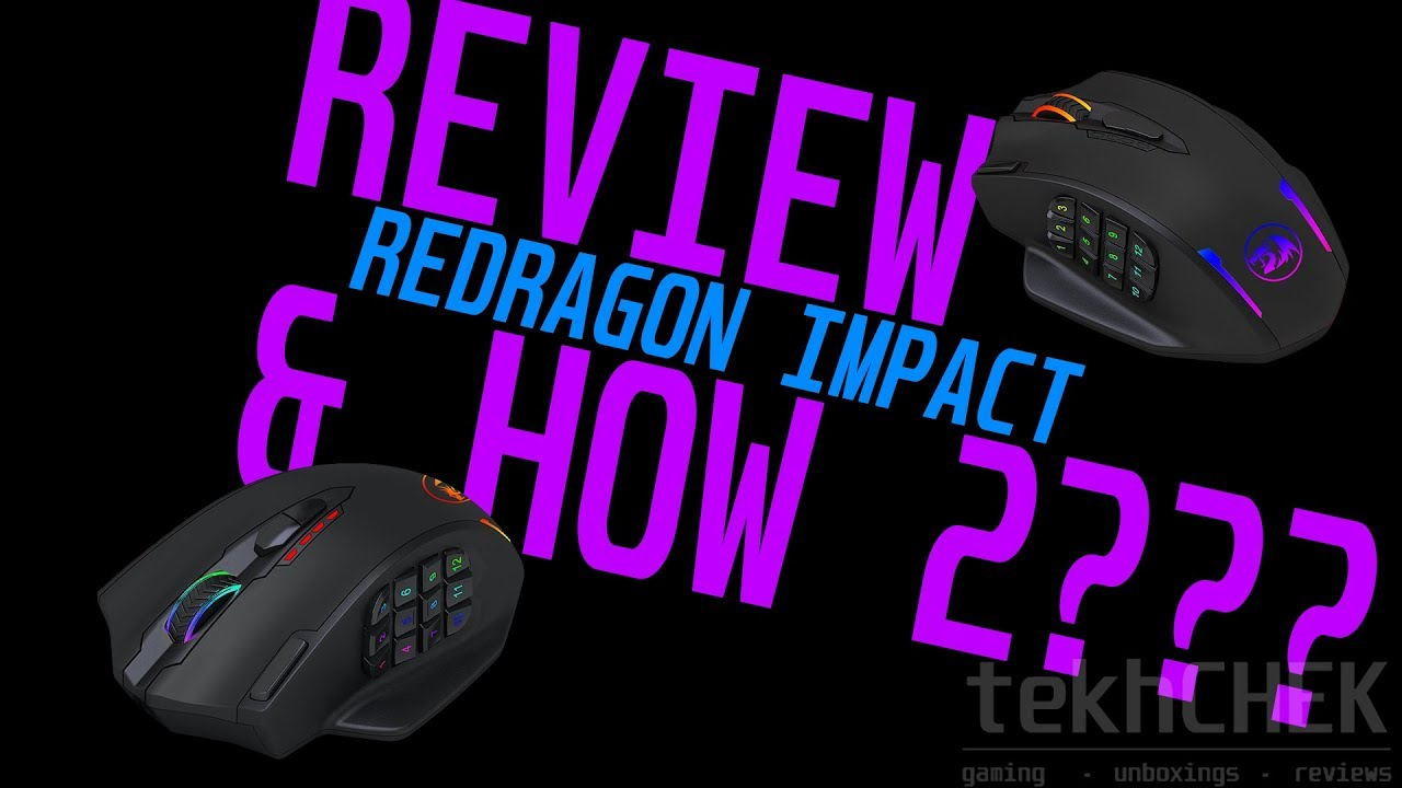 Redragon Impact Wired Gaming Mouse Review Using Software Youtube