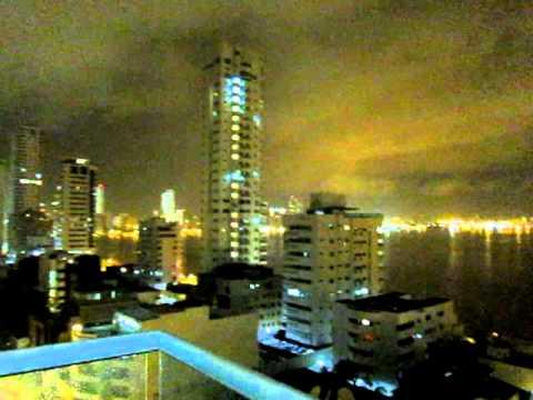 Crazy thunderstorm in Cartagena, Colombia 2012