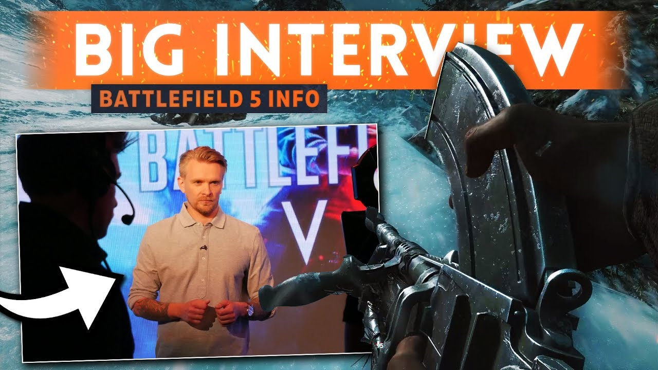 BIG INTERVIEW w/ Daniel Berlin - Battlefield 5 New Gameplay Details (Suppression & Customization)