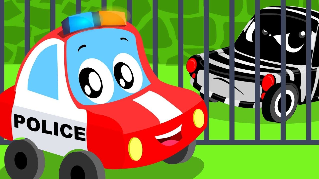 little red car police car song nursery rhymes songs for kids