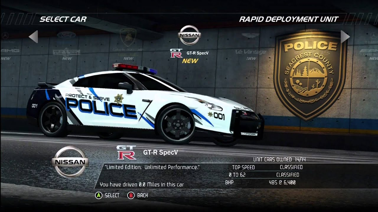Nfs Hot Pursuit 2 All Police Cars Youtube