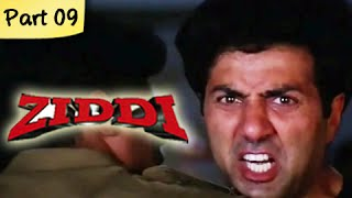 Ziddi (hd) - part 09 of 15 - superhit blockbuster action movie - sunny deol, raveena tandon