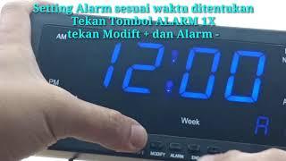 Jam Meja LED Digital 1008 Biru atau Jam Dinding LED Blue 1008