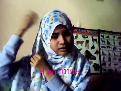 Tutorial Jilbab Pashmina Sifon Ceruti Motif