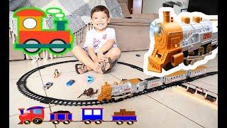Brincando de TREM ELÉTRICO com as CRIANÇAS | Brinquedos e Surpresas