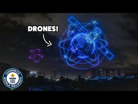 Biggest drone display ever! - Guinness World Records