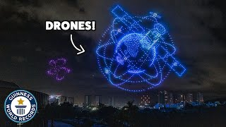 Biggest drone display ever!  Guinness World Records