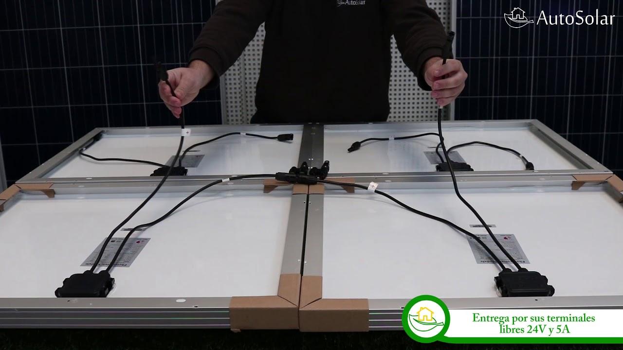 Conexi 243 N De Paneles Solares En Serie Paralelo Youtube
