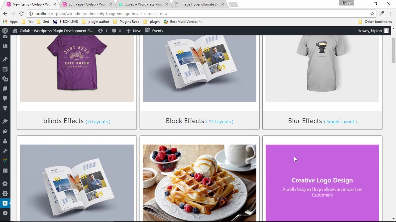 Image Hover Effects with Carousel WordPress Plugins