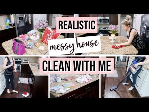 REALISTIC CLEAN WITH ME 2019 | EVERYDAY CLEANING WHEN THERE'S NO TIME TO CLEAN | CLEANING MOTIVATION