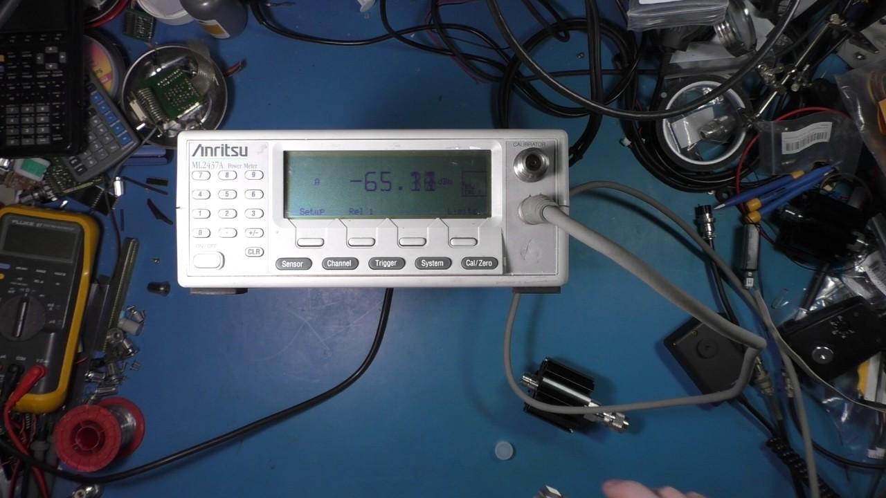 Anritsu Rf Power Meter Quick Look And Test Measurement Youtube Millivoltmeter