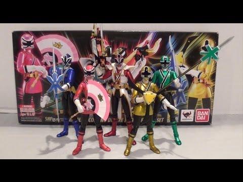 SDCC 2013 S.H. Figuarts Power Rangers Super Samurai Set Review [Power Rangers Super Samurai]