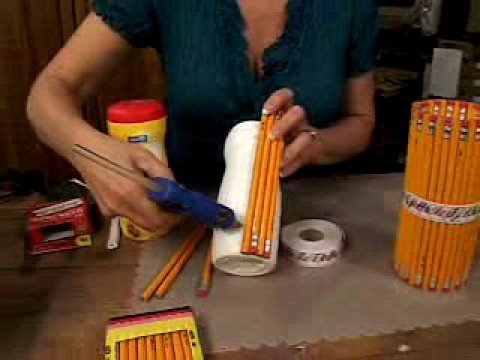 Pencil holder kids craft youtube for West materials crafts