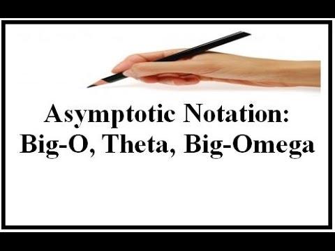 Asymptotic Notation:Big-O,Theta,Big-Omega