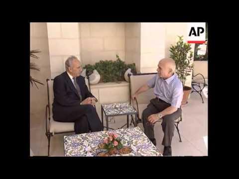 Jordan - Shimon Peres meets King Hussein