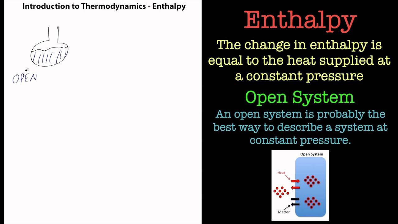 Thermodynamics - Definition of Enthalpy. - YouTube
