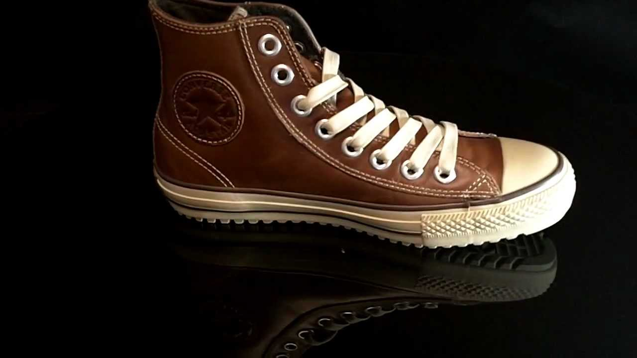 980168b24b658c Converse Boot Mid Leather Pinecone 115714 - YouTube