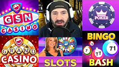 GSN Casino Wheel Slots Fresh Deck Bingo Bash Grand Android iOS Game Games Review Gameplay Video