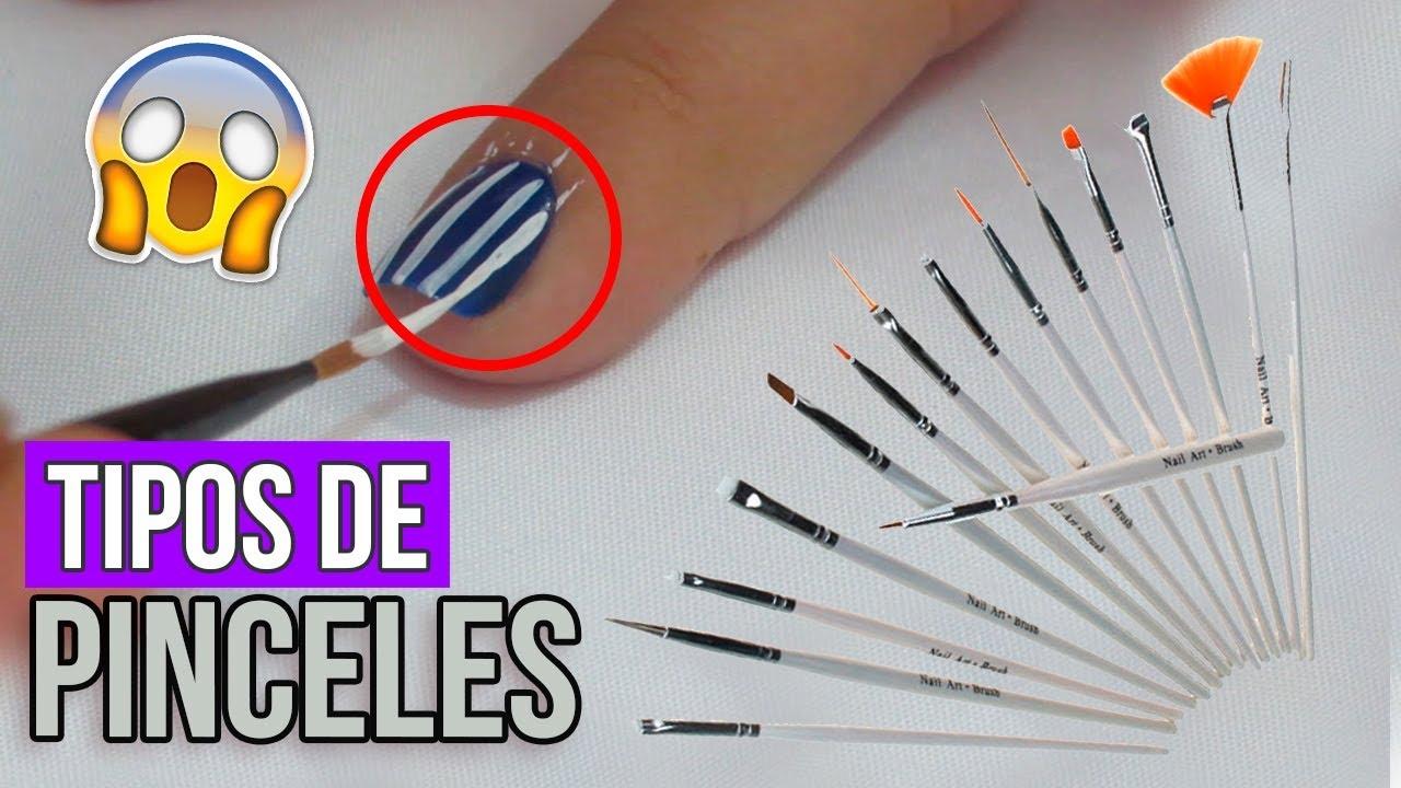Tipos de Pinceles Para Uñas ¿Como Usarlos? - YouTube