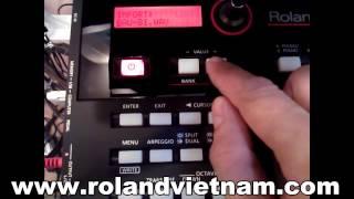 Roland XPS 10 Sample Đàn Bầu từ tiếng guitar Ibanez Làm Thử