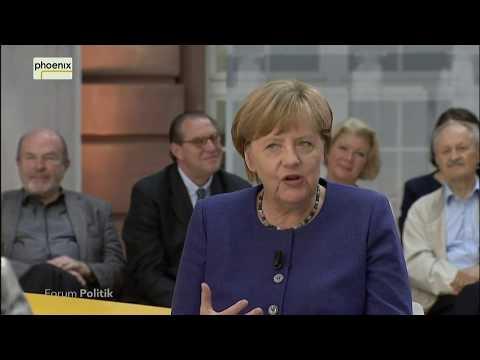 Livestream von phoenix: Forum Politik mit Angela Merkel