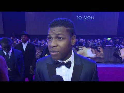 Star Wars The Force Awakens European Premiere Interview - John Boyega