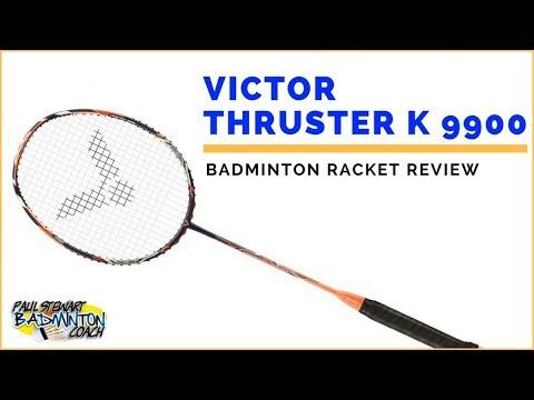 Victor Thruster K 9900 Badminton Racket Review Neon Orange