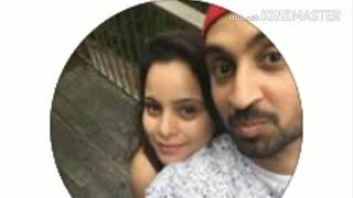 Diljit dosanjh with his wife | 100% original vi...