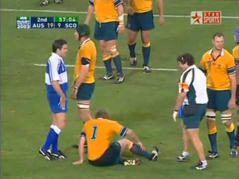Rugby Union 2003 Quarter-final, Australia vs Scotland at Brisbane part 5.