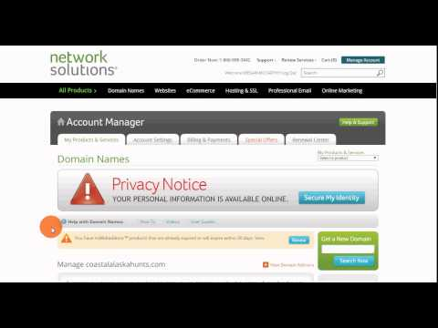 Network Solutions DNS Update Domain Name Server