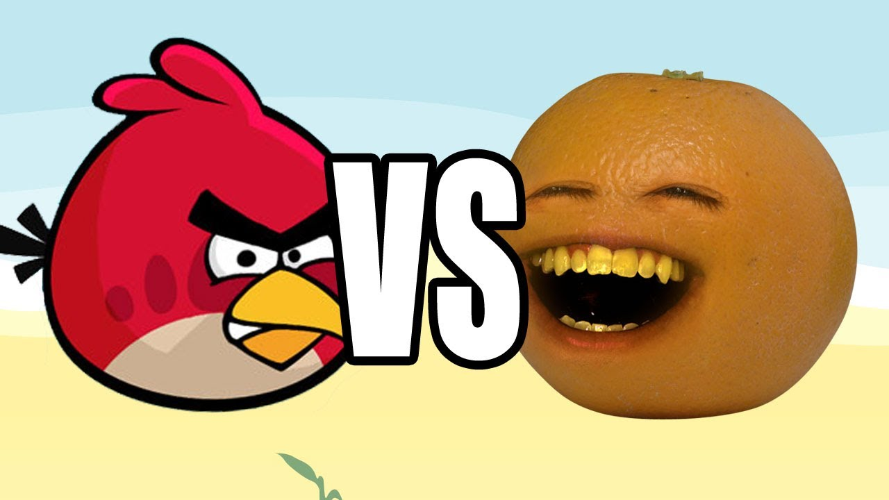 Annoying Orange vs Angry Birds  YouTube