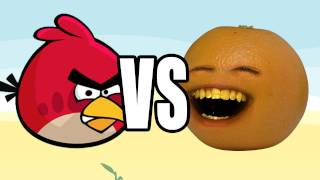 Annoying Orange vs Angry Birds