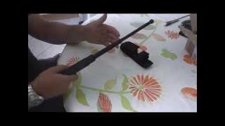 Test bâton télescopique de défense personnelle