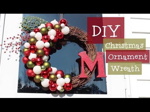 diy christmas ornament grapevine wreath