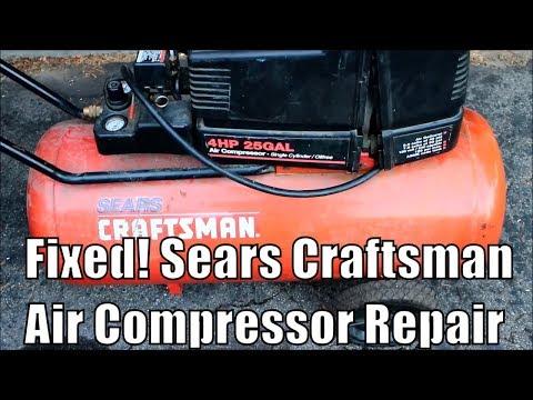 Sears Oilless Air Compressor Muffler/Intake Repair How To - 919.15292