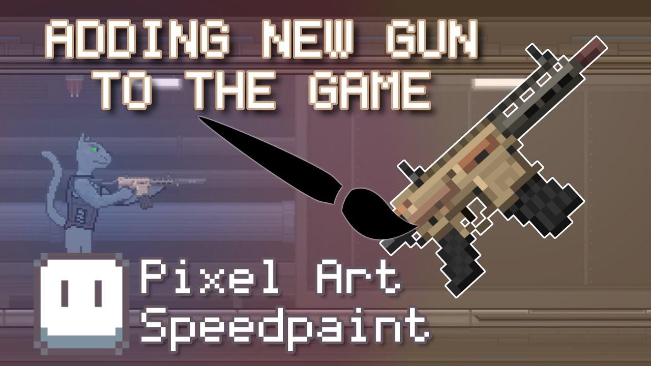 SPEEDPAINTING NEW GUN FOR MY GAME | Rushaug: Project Emerald DEVLOG